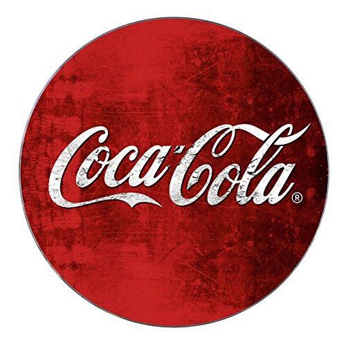 WENKO Dessous-de-plat Coca-Cola Classic - Dessous résistant à la chaleur pour les casseroles et les poêles, Verre trempé, 20 x 20 cm, Multicolore