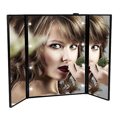 Cosprof - Espejo de maquillaje plegable con 8 luces LED – Soporte...