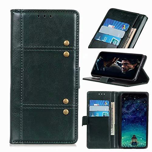Nokia 5.4 Hülle, Handyhülle für Nokia 5.4, Nokia 5.4 Handyhülle Magnetisch Flip Folio Stoßfest Wallet Case für Nokia 5.4 Hüllen mit Ständer Grün