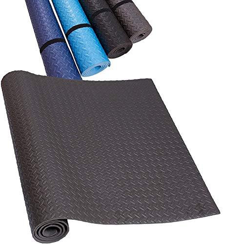 HD Fitness - Tappeto per Fitness, Sport, Yoga, Tapis Roulant, Palestra, Stretching, Cyclette – Antiscivolo e Isolante – Tappeto Protettivo per Palestre – Grigio 200 x 100 cm