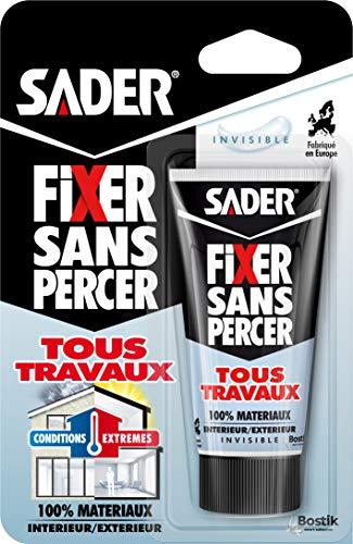 Sader Fixer sans Percer tous travaux Invisible - Tube 50 G
