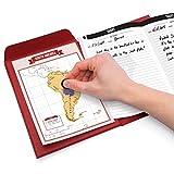 luckies of london travelogue – diario di viaggio con cartine da grattare – articolo di viaggio indispensabile – include 8 cartine geografiche grattabili con paesi, città e stati – ottima idea regalo - rosso