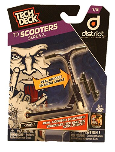 Tech Deck TD Scooters Series 2 District Freestyle Scooter Co. Scooters 1/8 by Tech Deck