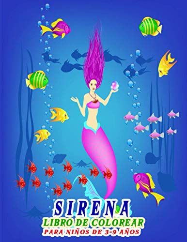 Sirena Libro de colorear para niños de 3-9 años: Libro para colorear de Sirenas para niños niñas y niños | Regalo divertido para niños