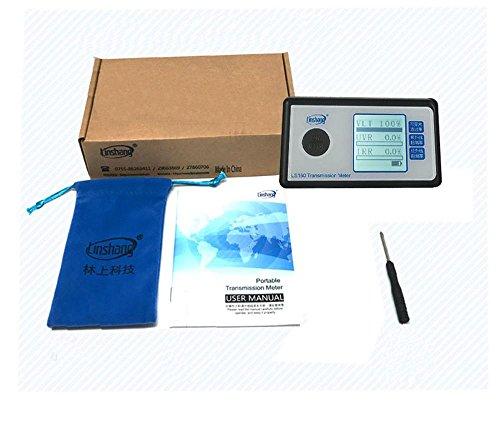 Solar Film Transmission Tester Window Tint Tester 3 in 1 UV VL IR Transmission Meter Automatic Light Transmittance Tester Equipment Slot up to 8mm, Resolution 1%