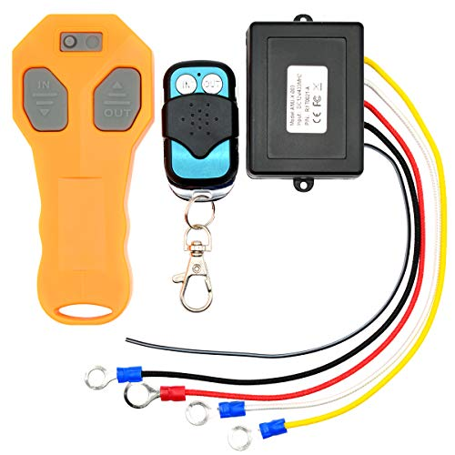 Royitay Wireless Winch Remote Control Kit for Truck Jeep ATV SUV Auto Winch with Indicator Light DC 12V 433MHZ Switch Handset Waterproof