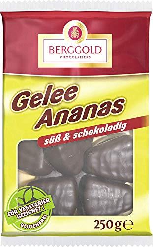 Berggold - Gelee Ananas Schokolade - 250g
