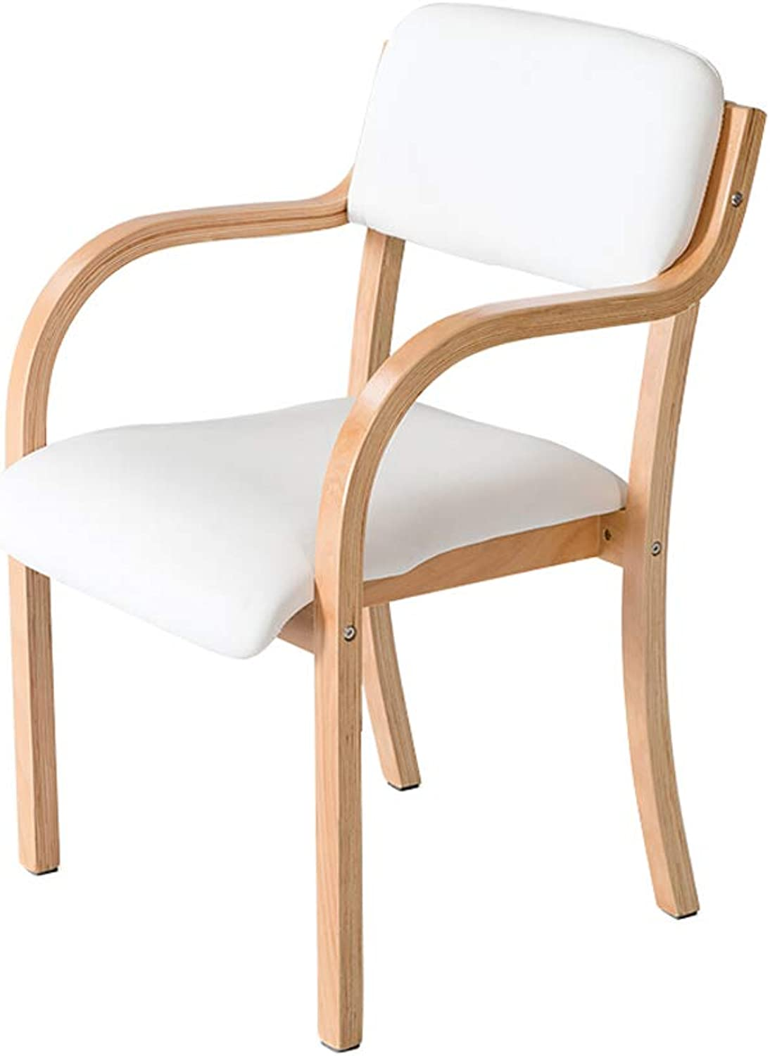 Solid Wood Dining Chair Wooden with Armrests Modern Minimalist Dining Chair Dining Table and Chairs Multicolor (color   C)