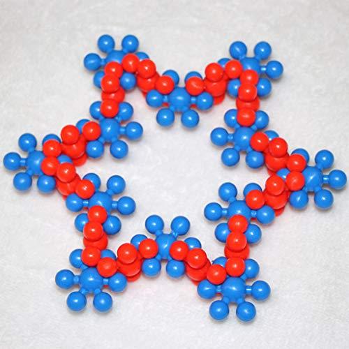 Jouets éducatifs de flocon de neige, sort éducatif de 180 pièces pour enfants, blocs de construction de jouets en plastique de plus de 3-4-5-6 ans, blocs de flocons de neige emboîtant les disques en