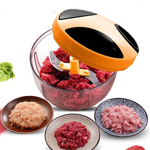 SHUHAO Handmatige vleesmolen, multifunctionele keukenmachine voor thuis, voor het hakken en roeren van vlees, groenten en fruit, het maken van babyvoeding desserts en producten