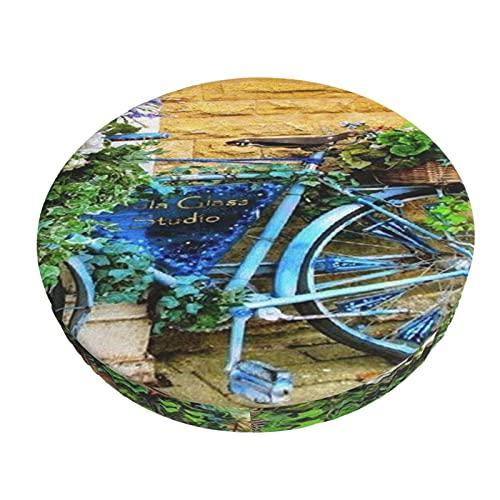 Runder Stuhlbezug Bedruckte Barhockerabdeckungen Ideen Vintage Fahrrad Art Bar Kissenbezüge, Rundes Stuhl Sitzkissen Für Zuhause / Hotel / Party
