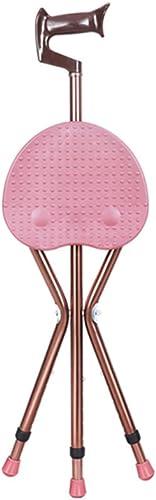 Béquilles de chaise avec tabouret Canne Vieil homme batons de marche Béquilles de chaise multifonctions à trois pieds Béquilles ( taille   C82cm-92cm )