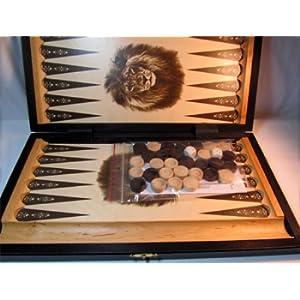 Chessebook Backgammon in legno Set 42 x 37 cm
