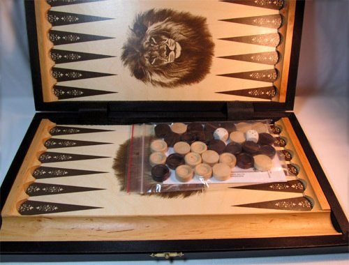 ChessEbook Backgammon 42 x 37 cm Holz