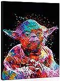 TAHEAT Bricolage Peinture à l'huile par numéro Kit, Peinture peintures Nouveau Star Wars maître Yoda dessin16 * 20 Pouces décorations de noël Cadeaux Cadre en Bois