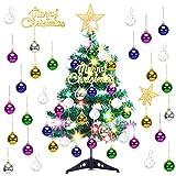 Arbol de Navidad PequeñO, LED Mini Arbol Navidad Luces 60cm Árbol de Navidad de Mesa...