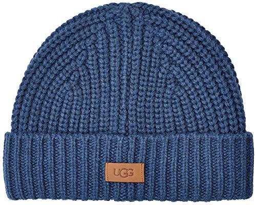 UGG® Knit Cuff Hombre Beanie Azul One Size