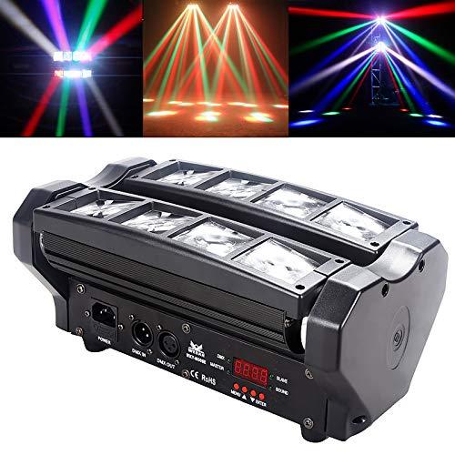 Teste mobili DJ beam LED,RGBW DMX512 Control 8x10w Mini Doppio-fila Ragno Lampada di Scena Master Spot Luci a LED Effetto per discotrca,esterno,KTV,bar,Club,festa,Stato
