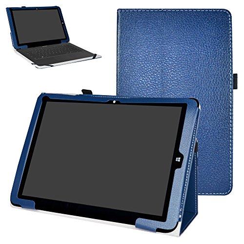 Mama Mouth Chuwi Hi12 Funda, Slim PU Cuero con Soporte Funda Caso Case para 12' Chuwi Hi12 Windows 10 & Android 5.1 Dual Sistemas Tablet PC,Azul Oscuro