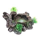 MItrilifi Accessories Resina Acuática, Decoraciones para Peceras, Acceso Diseño de Tronco de árbol Artificial para Acuario Plataforma de Reptil de Resina Decorativa de Acuario. (Color : A)