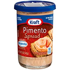 One 5 oz. jar of Kraft Pimento Spread Kraft Pimento Spread is a delicious and versatile spread Made with Philadelphia and dried pimentos Spread on crackers or toast, or use in favorite recipes Also makes a great addition to macaroni and cheese