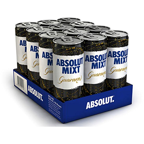 Absolut Mixt Guarana Wodka Mixgetränk 12er Pack 12 x 330ml inc. 3.00€ EINWEG Pfand