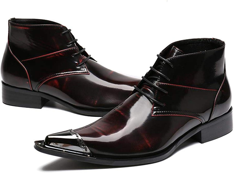 Weinrote Spitze mnnliche Stiefel der Mnner des zuflligen Schuh-Haarstylisten