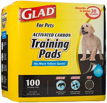 Glad for Pets Black Charcoal Puppy Pads Puppy Potty Training Pads That Absorb NEUTRALIZE Urine product image
