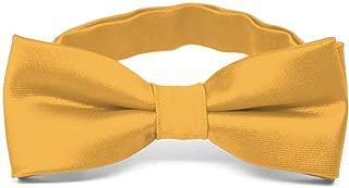 TieMart Boys' Gold Bar Bow Tie