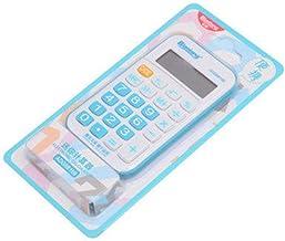 Calculator, 12-Digit Widescreen Display Calculator, Office Business Calculator, Solar Fashion Mini Calculator. (Color : Blue)