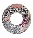 Majea NEU Damen Loop Schal viele Farben tolle Muster Schlauchschal Halstücher XXL (rosa 3)
