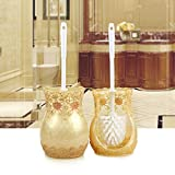 WANDOM Toilet Brush Kit Japanese Resin Creative Plastic Soft Bristle Toilet Brush Toilet from The Punch Lace Pearl Yellowy13-Dj3642110720