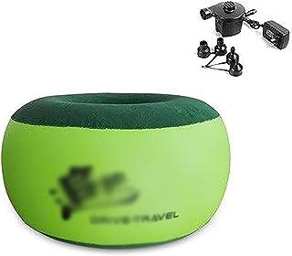 Uppblåsbar stol Uppblåsbar soffa Uppblåsbara stolar för vuxna Enkel uppblåsbar stol Soffa grön 27x50cm Polymer PVC Flockin...