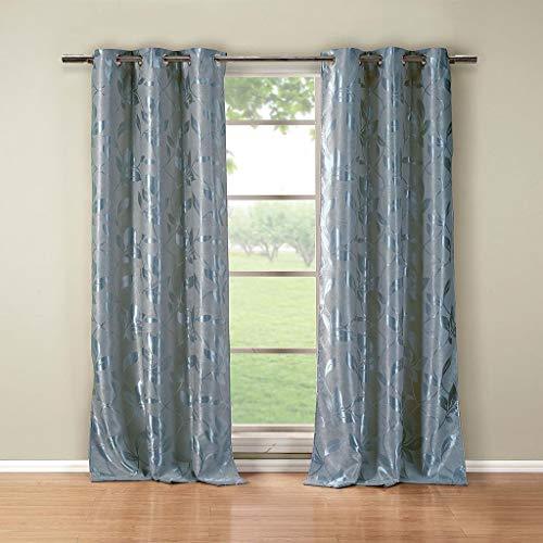 Duck River Textile - Cortinas Opacas para Ventana (2 Unidades, 36 x 84 cm), Color Azul