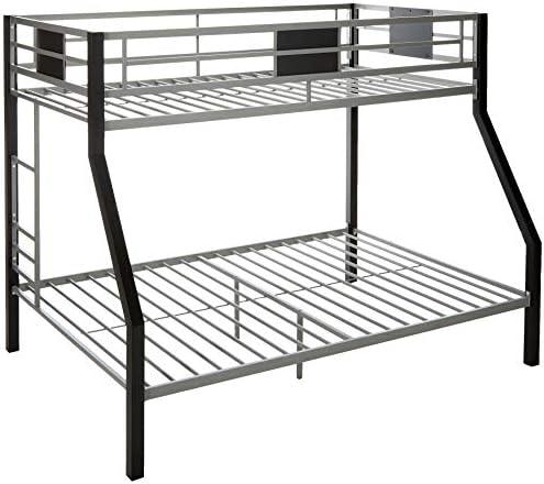 Amazon Com Ashley Furniture Signature Design Dinsmore Bunk Bed Twin Full Component Piece Contemporary Black Gray Furniture Decor