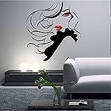 Pin Up Girl Women Modern Hair Salon Wall Sticker Decal Mural Transfer F796 57 * 63Cm...