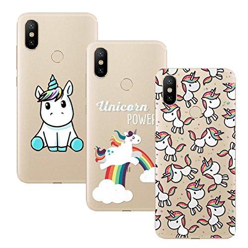Young & Ming Xiaomi Mi A2 Funda, [3 Pack] Xiaomi Mi 6X Funda Carcasa Transparente Slilicona Suave TPU Gel Enjaca Perfecta, Color 2