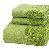 Charm4you 100% algodón Egipcio Peinado Toallas,Toalla de baño de Jacquard de...
