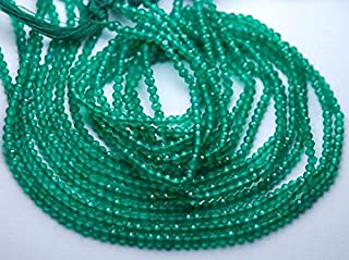 Jewel Beads Natural Beautiful jewellery 13 inch Long Strand,Green Onyx Finest Quality Micro Faceted Rondells,3-3.5mmCode:- JBB-30346