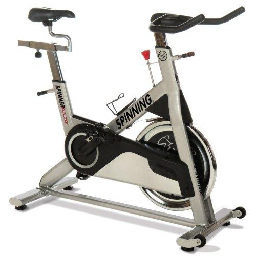 SPINNING® Indoor Cycle Sprint Premium Bike - Bicicletas estáticas Fitness (Indoor, Original), Color Gris Metalizado