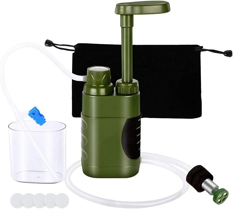 Bomba De Purificador De Agua Al Aire Libre Portátil De Emergencia Manual De Agua Potable Filtro De Agua para Acampar