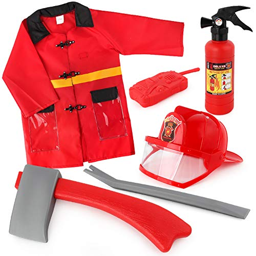 Anniston Kids Toys, Kids Pull-Type Fire Extinguisher Water Gun Cap Firefighting Suit Beach Play Toys Outdoor Toys for Children Toddlers Boys Girls, 3#