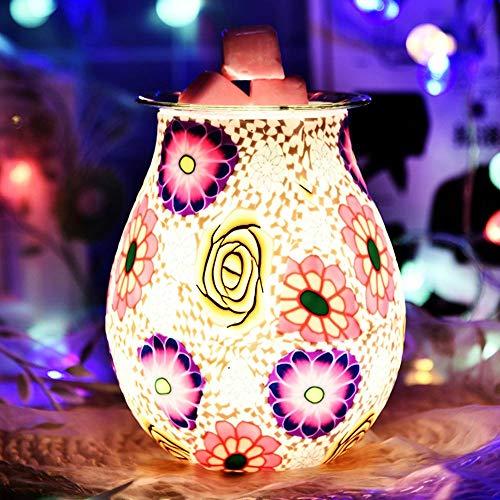 HaavPoois Quemador de Aceite eléctrico, lámpara de Aroma de Vidrio 3D, Quemador...