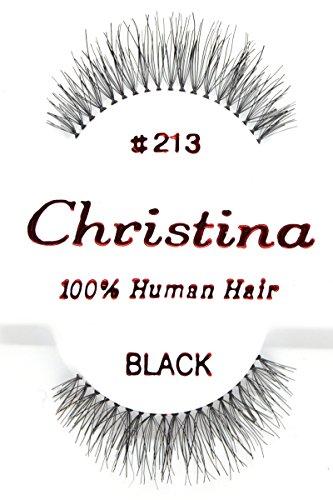 12X Eyelashes - #213 Christina 100% Human Hair Fake Eyelashes