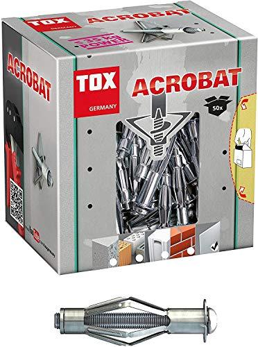 Sonderposten 175 Stück - TOX Metall-Hohlraumdübel Acrobat M6 x 52 mm, für Befestigungen in Gipskartonplatten