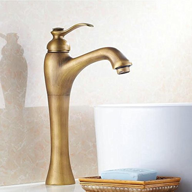 Makej Makej Klassischen Einlochmontage Waschbecken Wasserhahn Antike Bronze Hot & Cold Becken Mischbatterie Tap