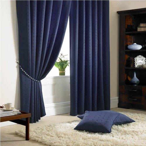 Tony's Textiles Madison Rideaux Bleu Marine 117 x 183 cm