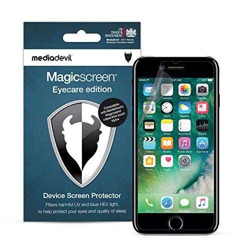 MediaDevil Pellicola Protettiva per iPhone 8 Plus e iPhone 7 Plus - Eyecare Filtro Luce Blu, UV e HEV (2-Pezzi)
