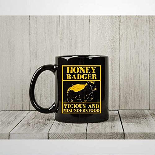 Honung grävling Vicious and missförståstood kaffemugg rolig Fear The Honey Badger tekopp för R-atel älskare honung grävling älskare presenter mugg 325 ml