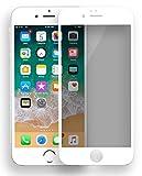 MyGadget Blickschutz Folie für Apple iPhone 6 Plus / 6s Plus - Panzerglas Anti Spy 9H Glasfolie Full Screen - Harte Privacy Protector Schutzfolie in Weiß